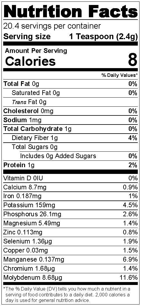 Nutrition Label Standard